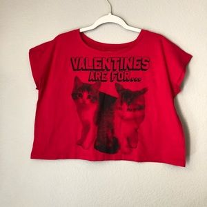 Never worn Valentines Cat Shirt